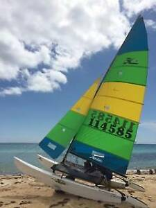 Hobie 16 with power pack ready to race