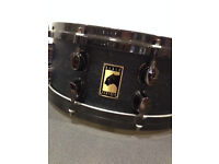 TWO Mapex Black Panther Birds Eye Premium Series Maple Snare Drums 14X5.5 and 13x3.5 offers accepted