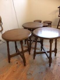 3 x round side table