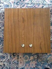 Dart Board in a cabinet