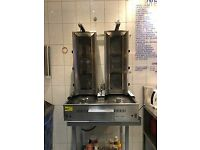 archway twin kebab grill with 3 burners.