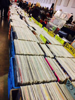 Mega vinyl record sale Sunday LPs and 45s