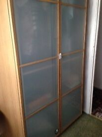 Double Wardrobe, Oak effect from Ikea. Trouser rail, hanging rail +2 x shelves included.