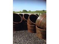 Half Whiskey Barrel planters