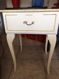Cream vintage style bedside table