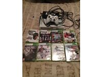 120 gb xbox 360 with 9 top games with wireless controller and rechargeable lead all fully working