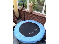 Trampoline / Rebounder - mini, 43 inch with handle bar for adults or kids less than 100kg