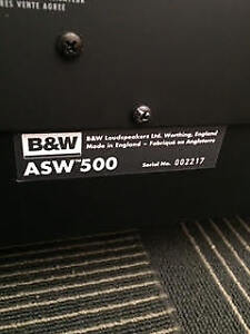 B&W 4 speakers and amp