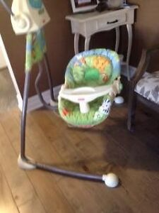 Fisher price swing ...battery and electric plug in