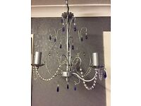 CHANDELIER TYPE CEILING FITTING WITH 4 MATCHING WALL LIGHTS