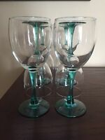Glass Vases, Plates, Silverware, Cups and Wine Glasses