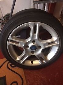 Ford 15 inch alloy wheel and tyre