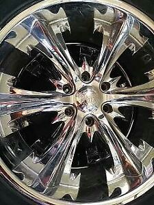 22 inch Chrome Rims with tires