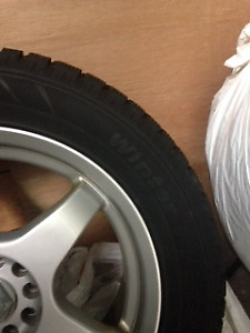 "17 "" winter tires on rims off a 2006 Cadillac only $650!"