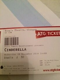 Tickets for Panto Cinderella Kings Theatre for 28 Dec
