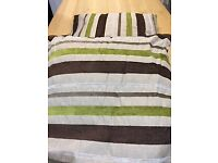 5 assorted brown cushions