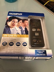 OLYMPUS -VN-5200 PC 512MB DIGITAL VOICE RECORDER   $60