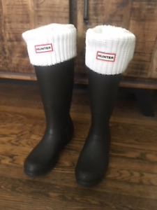 Original Hunter Boots AND socks in like-new condition!