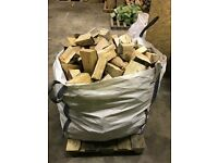 Dried/seasoned hardwood logs jumbo bags