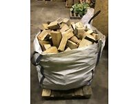 Professionally dried hardwood logs jumbo bags