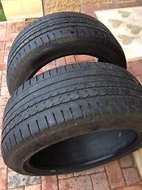 2 Car Tyres