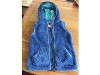 Girls aged 8-9yrs blue fleece 'fat face' gillet.