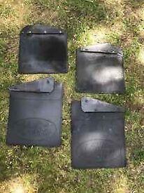 Land Rover Defender Mud Flaps and brackets plus rear light protectors
