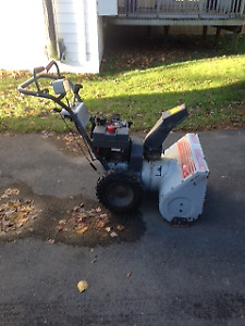 10 hp Craftsman snowblower for sale, starts on first pull.