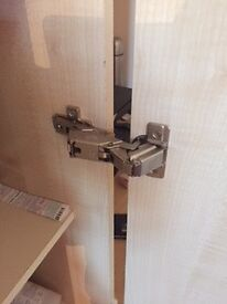 170 degree and 110 degree kitchen and wardrobe door hinges