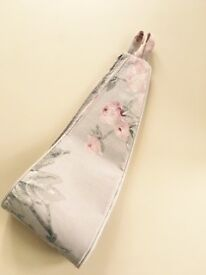 Floral tie curtain backs