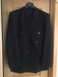 Black  Mens Double Breasted Suit Protocol from Sears