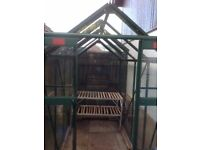Elite greenhouse, powder-coated green, still in warranty, dismantled
