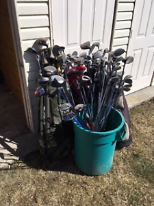 Barrel of Golf Clubs...$5, $10 and $20