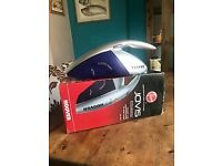 Hand held Hoover JovisCyclean rechargable dry vacuum cleaner, with attachments and paperwork