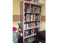 Beautiful solid wood french book case - 5 shelves COLLECTION ONLY £50 REDUCED