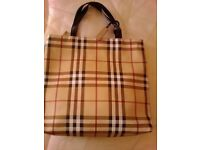 Burberry style handbag.
