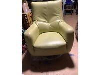 chrome swivel leather chair