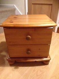 Pine two drawer chest