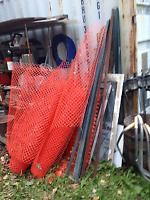 Snow fence and T-bar $175.00