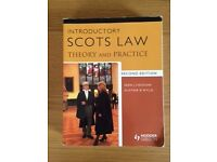 Introductory Scots Law – Theory & Practice 2nd Edition
