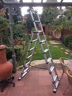 Telesteps telescopic three-in-one aluminium combination ladder 2.3 meters