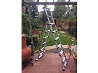 Telesteps telescopic three-in-one aluminium combination ladder 2.3 meters