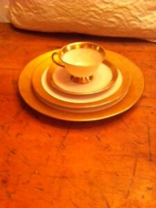 STUNNING ANTIQUE DISHES - with wide gold band North Shore Greater Vancouver Area image 1