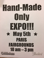 CALL FOR VENDORS - HANDMADE ONLY EXPO - Paris Fairgrounds