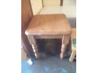 Small square 68x68 pine dining table