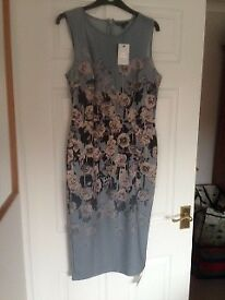 Sleeveless, bodycon dress from Next. New. Size 14. Midi length.
