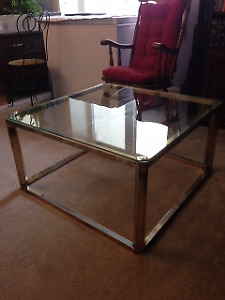 heavy glass coffee table for sale