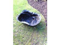 Pre-formed pond liner - instant garden pond