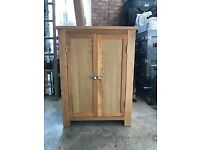 Modern Solid oak shelved cupboard