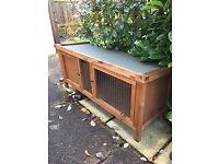 Rabit Hutch, wooden - hardly used, two front doors - 120mm x 45mm x 55mm (Height)